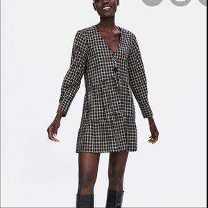 Zara Plaid Tiered Dress
